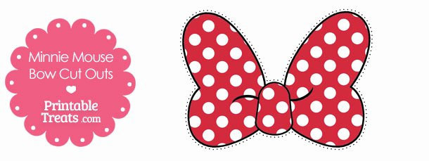 Minnie Mouse Bow Cut Out Inspirational Printable Minnie Mouse Bow Cut Outs — Printable Treats
