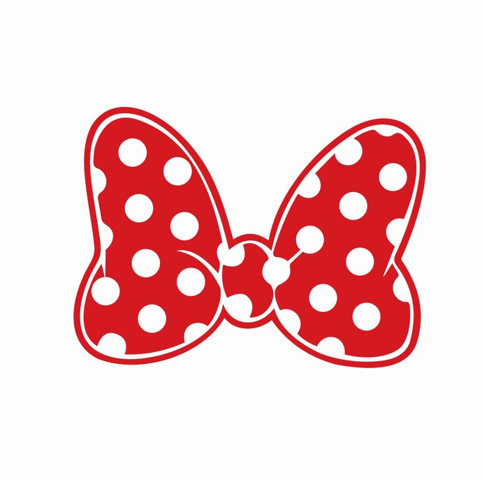 Minnie Mouse Bow Cut Out Lovely Minnie Mouse Polka Dot Bow Graphics Design by Vectordesign