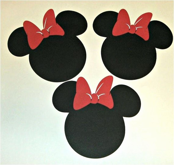 Minnie Mouse Bow Cut Out Luxury 20 Die Cut Minnie Mouse Heads W Bow In Red 5 Inch In Diameter