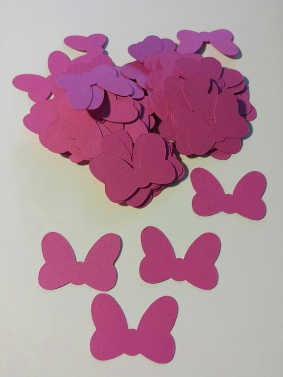 Minnie Mouse Bow Cut Out Luxury Items Similar to 80 Pink Minnie Mouse Bow Die Cut Punch
