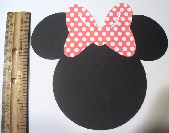 Minnie Mouse Bow Cut Out Luxury Minnie Mouse Heads 5 Inches Set Of 10 Cuts Cut Outs You