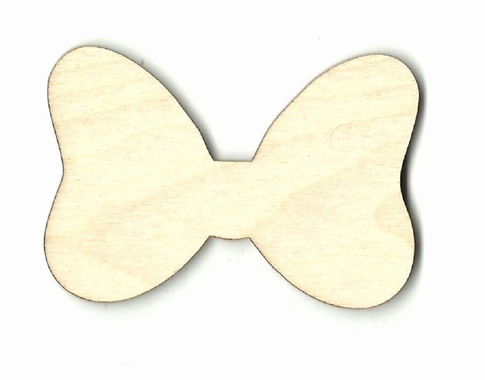 Minnie Mouse Bow Cut Out New Minnie Mouse Bow Laser Cut Out Unfinished Wood Shape Craft