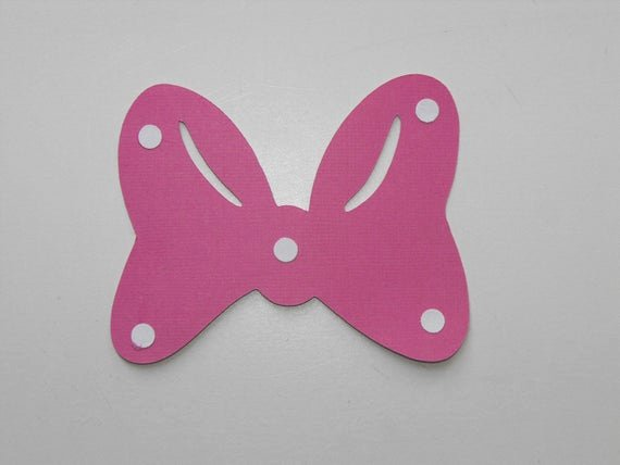 Minnie Mouse Bow Cut Out Unique Items Similar to Minnie Mouse Bow Die Cut On Etsy
