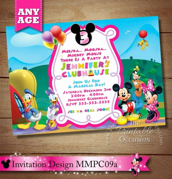 Minnie Mouse Clubhouse Invitations Awesome Huge Selection Mickey Minnie Mouse Clubhouse Invitation