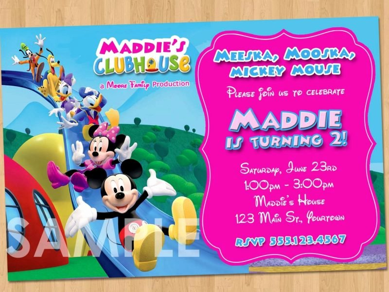 Minnie Mouse Clubhouse Invitations Awesome Minnie Mouse Clubhouse Invitations Cobypic