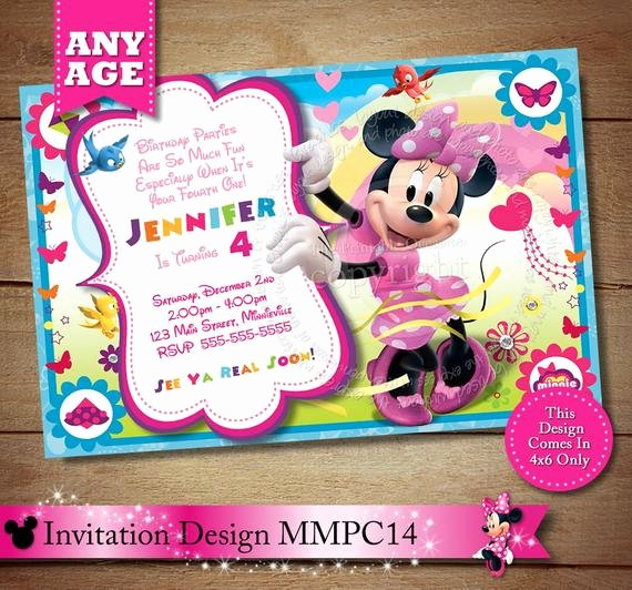 Minnie Mouse Clubhouse Invitations Beautiful Items Similar to Huge Selection Minnie Mouse Clubhouse