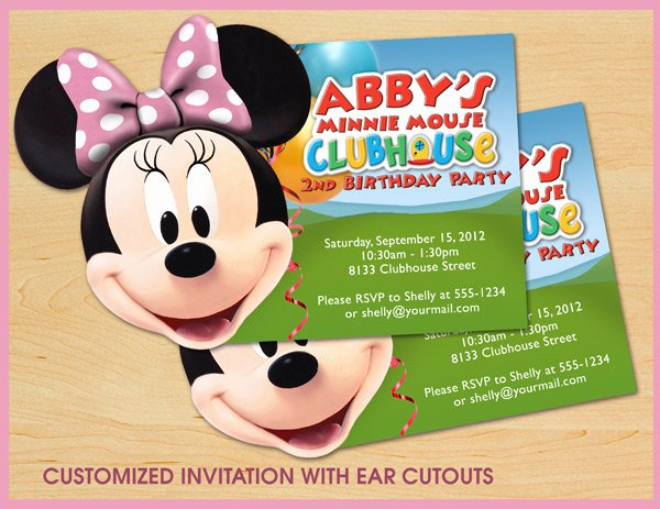Minnie Mouse Clubhouse Invitations Beautiful Minnie Mouse Clubhouse Birthday Invitations Custom