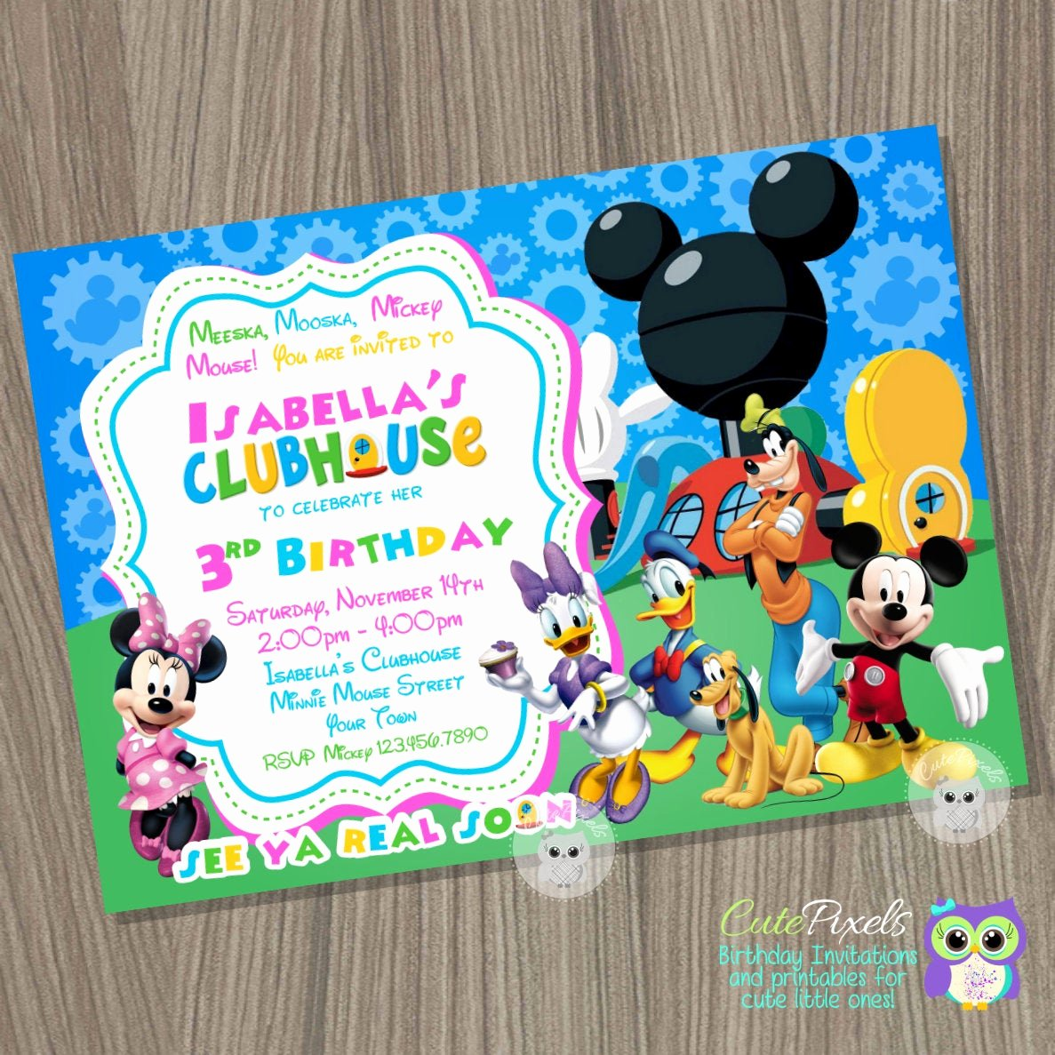 Minnie Mouse Clubhouse Invitations Beautiful Minnie Mouse Invitation Mickey Mouse Clubhouse Invitation