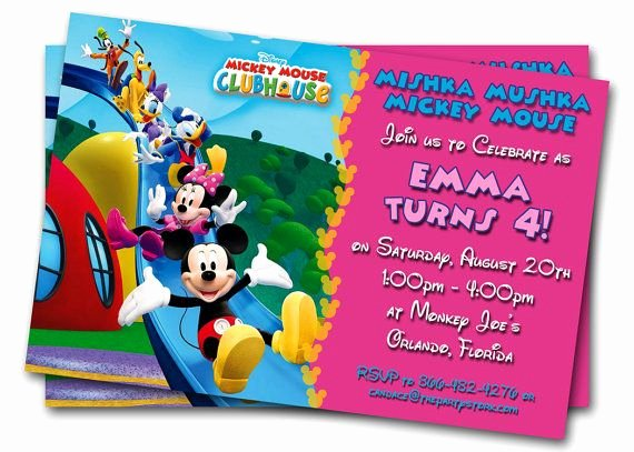Minnie Mouse Clubhouse Invitations Best Of Minnie Mouse Birthday Invitations Printable Custom Kids