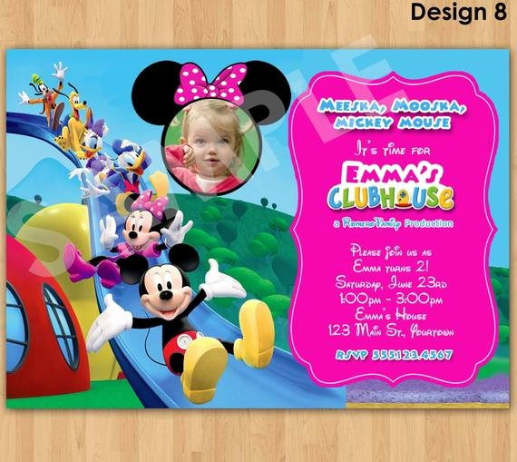 Minnie Mouse Clubhouse Invitations Best Of Minnie Mouse Invitation Mickey Mouse Clubhouse Invitation