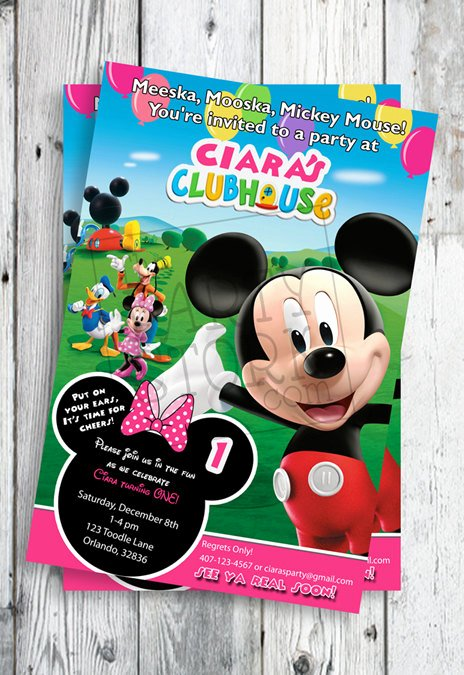 Minnie Mouse Clubhouse Invitations Best Of Minnie Mouse Invites Minnie Mouse First Birthday Invites