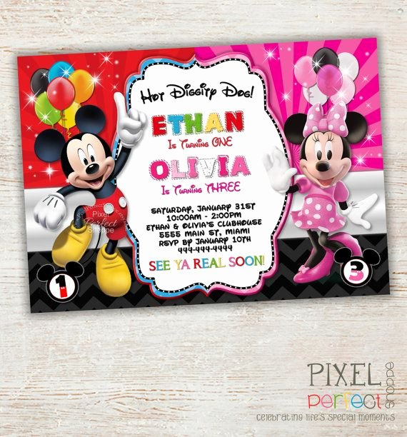 Minnie Mouse Clubhouse Invitations Best Of Pin On Birthday Party Ideas