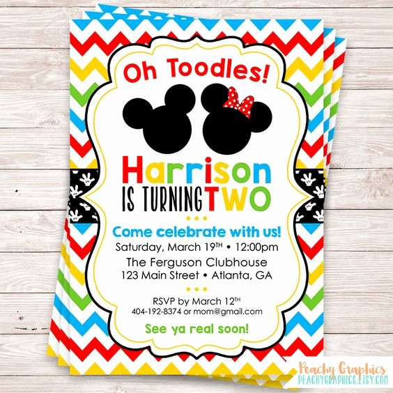 Minnie Mouse Clubhouse Invitations Elegant Mickey Mouse Birthday Invitations for Children