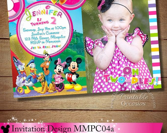 Minnie Mouse Clubhouse Invitations Fresh 97 Best Images About Minnie Mouse Clubhouse Invitations