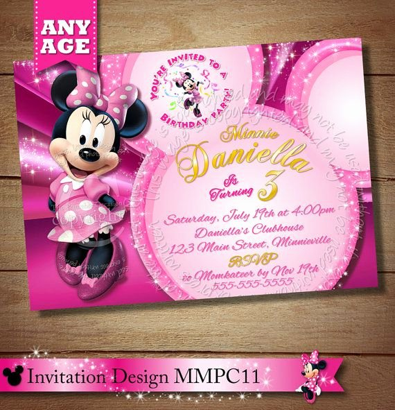 Minnie Mouse Clubhouse Invitations Inspirational 97 Best Images About Minnie Mouse Clubhouse Invitations