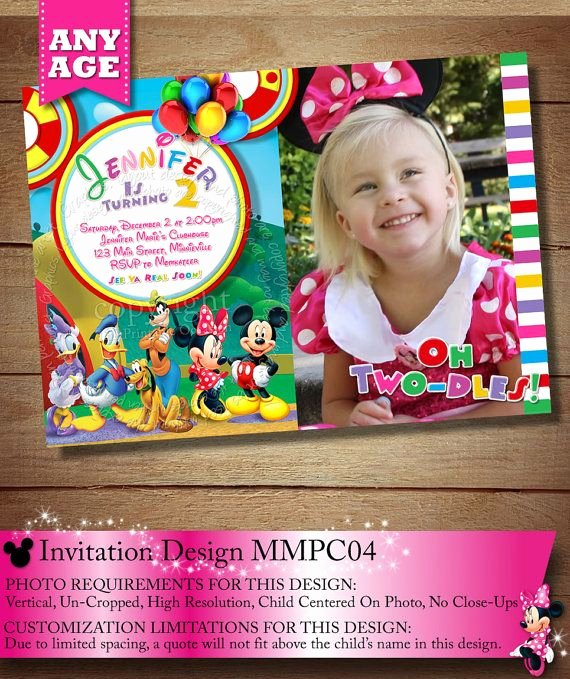Minnie Mouse Clubhouse Invitations Lovely Huge Selection Mickey Minnie Mouse Clubhouse Invitation