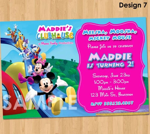 Minnie Mouse Clubhouse Invitations Luxury Mickey Mouse Clubhouse Minnie Invitation Printable Birthday