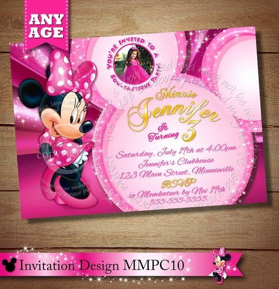 Minnie Mouse Clubhouse Invitations Unique 97 Best Images About Minnie Mouse Clubhouse Invitations