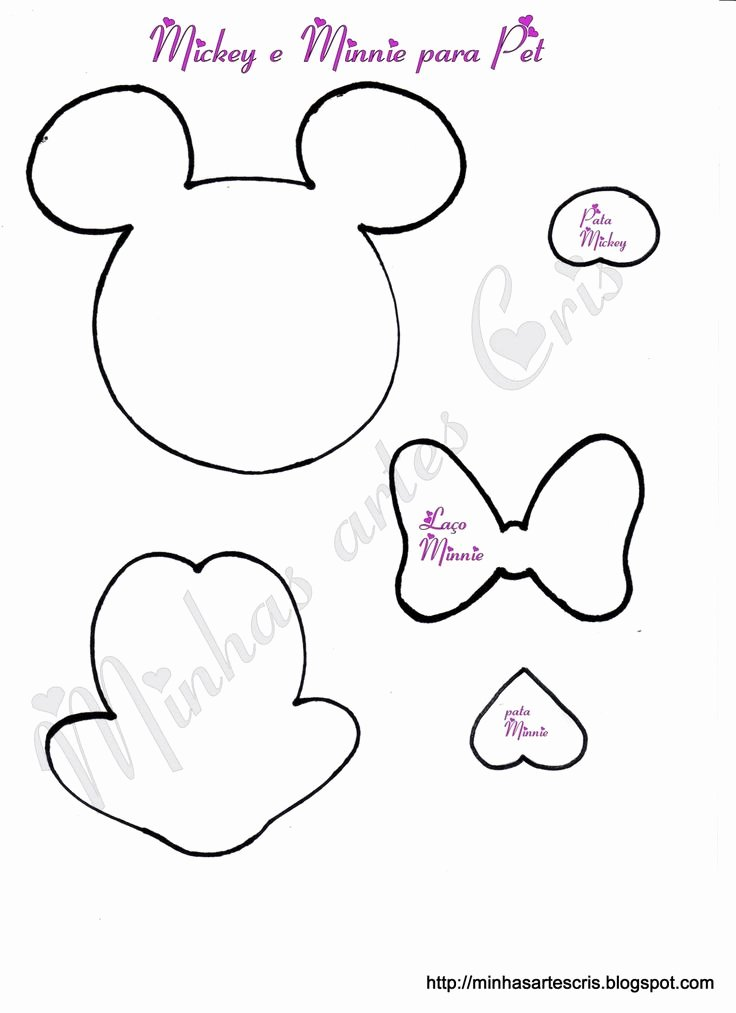 Minnie Mouse Cut Out Pattern Beautiful 21 Best Images About Minnie On Pinterest