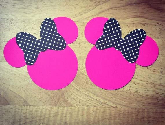 Minnie Mouse Cut Out Pattern Beautiful Minnie Mouse Ears Paper Cut Outs Crafts