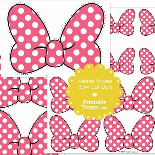 Minnie Mouse Cut Out Pattern New Minnie Mouse Bow Template Free Download Printable