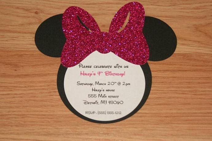 Minnie Mouse Invitation Maker Awesome Handmade Minnie Mouse Invitations with by Angiesdesignz On