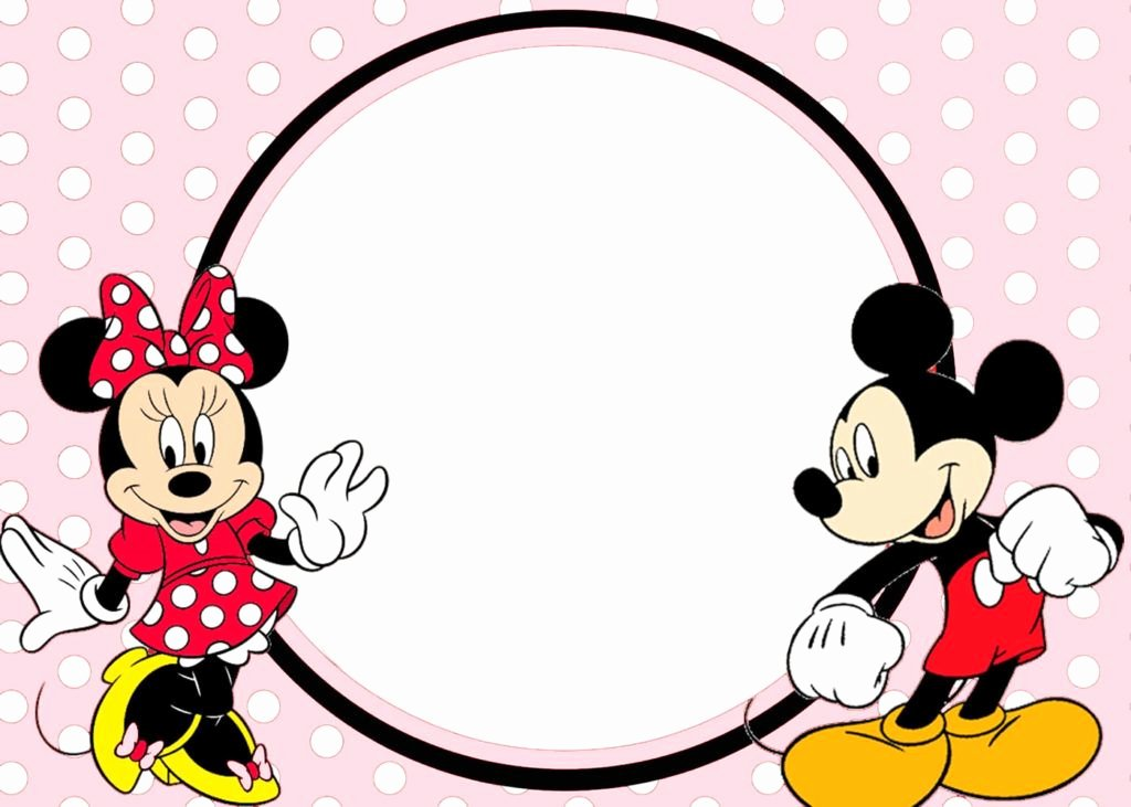 Minnie Mouse Invitation Maker Awesome Minnie and Mickey Invitation Template