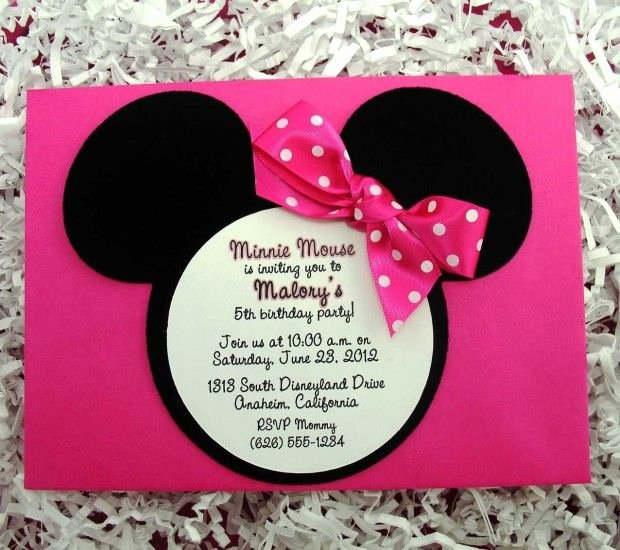 Minnie Mouse Invitation Maker Beautiful 222 Best Images About Minnie Mouse Invitation Cards On