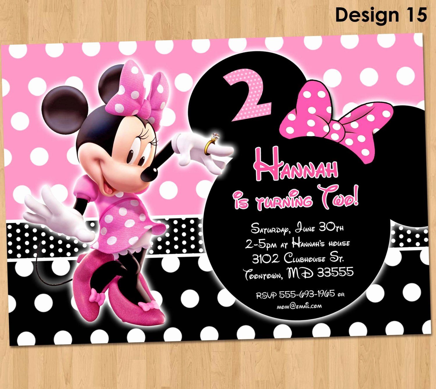 Minnie Mouse Invitation Maker Beautiful Minnie Mouse Invitation Minnie Mouse Birthday Invitation