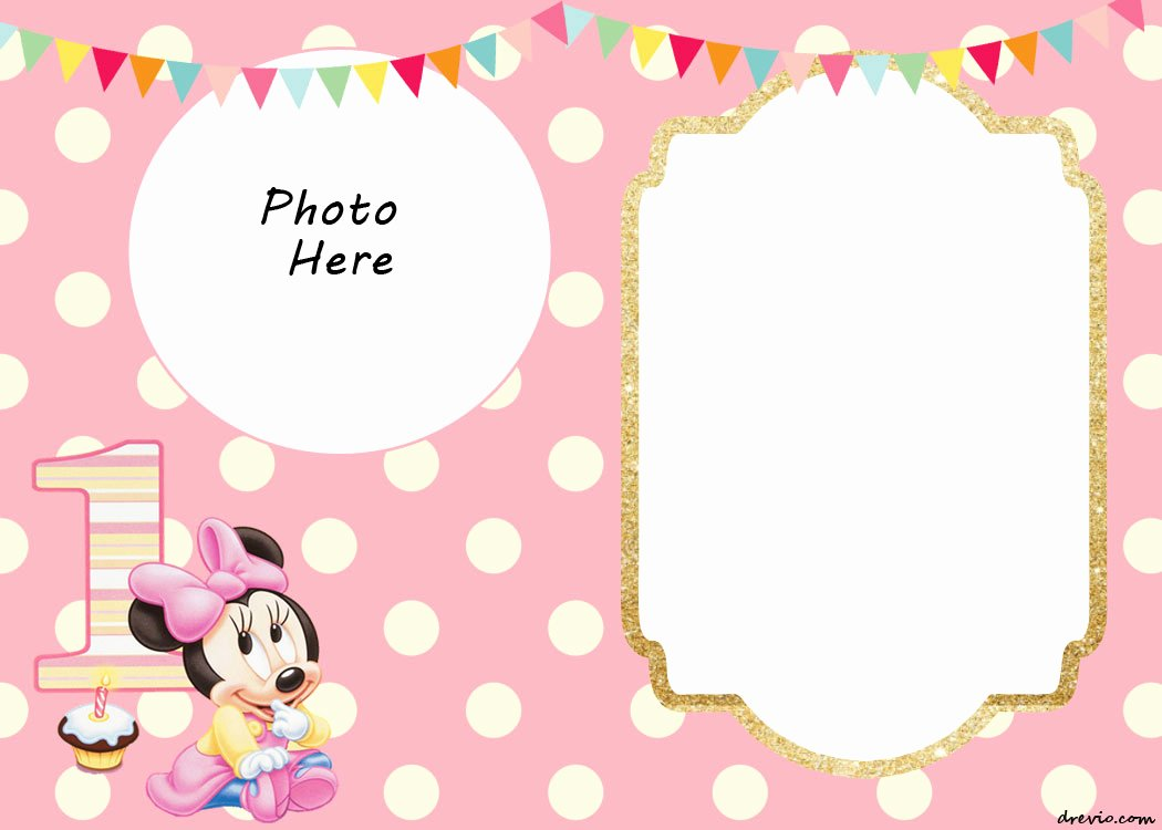 Minnie Mouse Invitation Maker Best Of Free Printable Minnie Mouse Birthday Invitations – Free