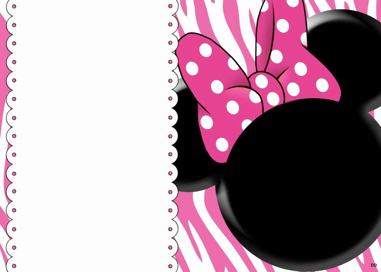 Minnie Mouse Invitation Maker Elegant Free Blank Invites Minnie Mouse Party