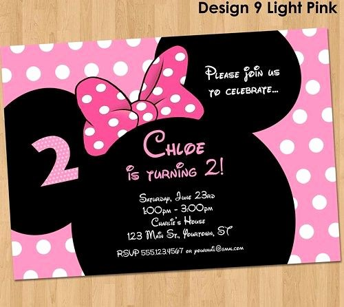Minnie Mouse Invitation Maker Elegant Minnie Mouse Invitation Make their Birthday Special with