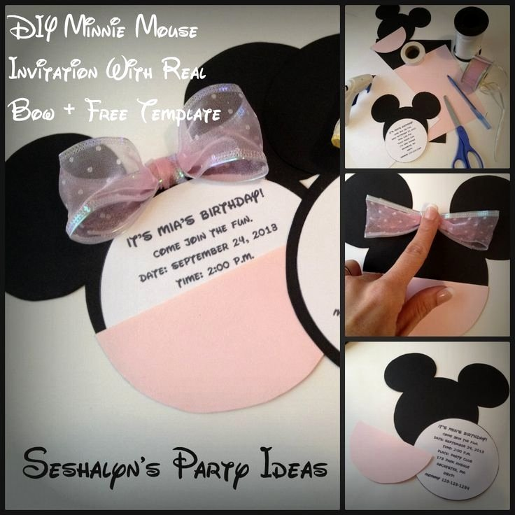 Minnie Mouse Invitation Maker Fresh Make Your Own Minnie Mouse Invitations Cobypic