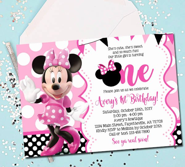 Minnie Mouse Invitation Maker Lovely 15 Birthday Invitation Templates In Pdf