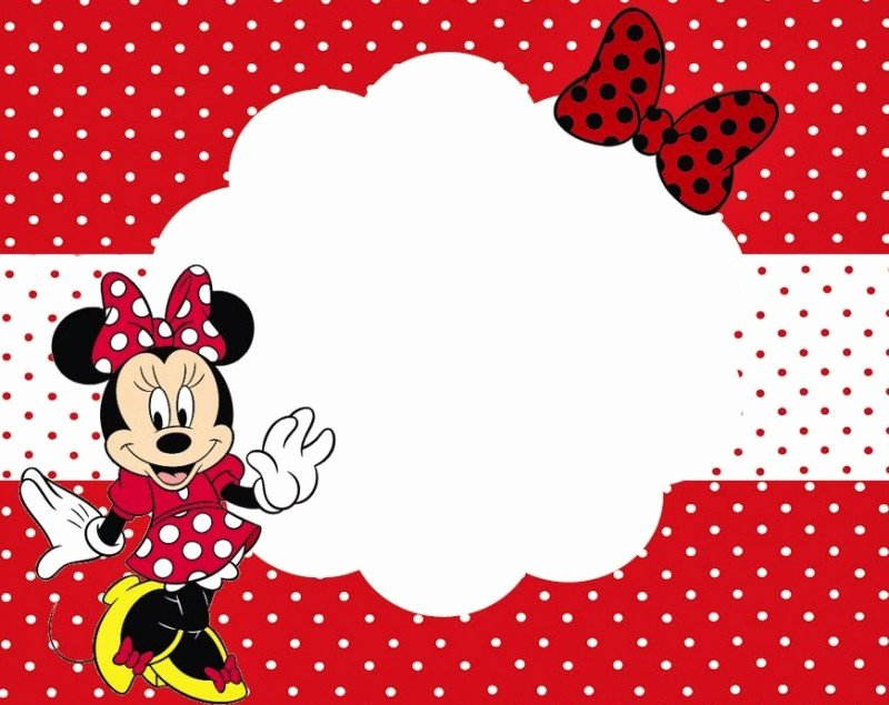 Minnie Mouse Invitation Maker Lovely Minnie Mouse Free Printable Invitation Templates