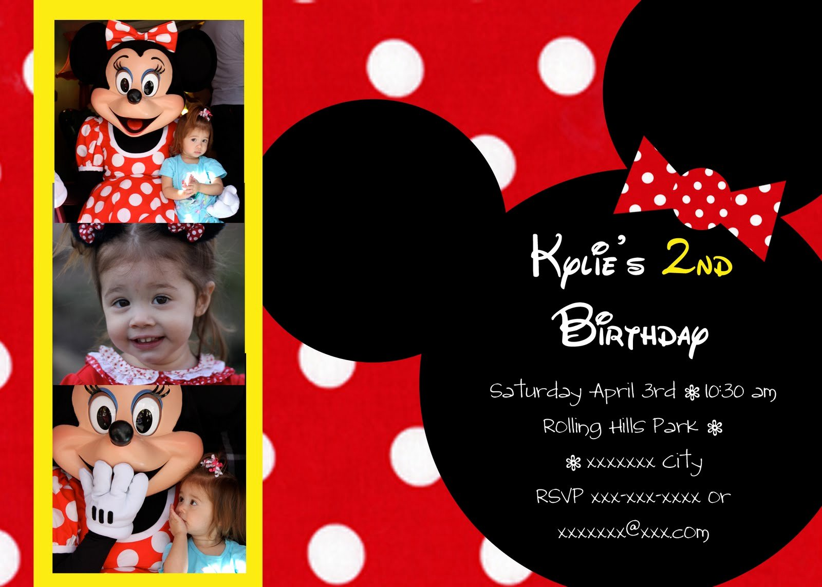 Minnie Mouse Invitation Maker New Janessa Castleberry Minnie Mouse Birthday Invitations