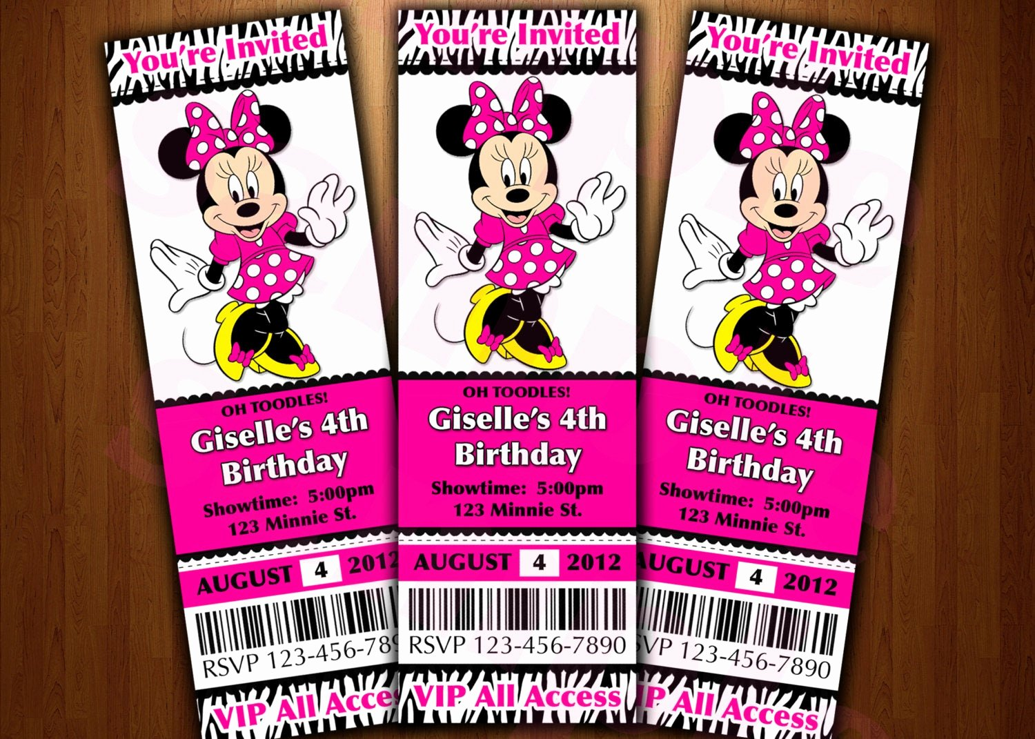 Minnie Mouse Invitation Maker New Minnie Mouse Ticket Invitation Printable Diy Invite Red or