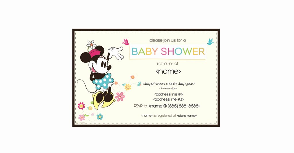 Minnie Mouse Invitation Maker New Printable Minnie Mouse Baby Shower Invitation