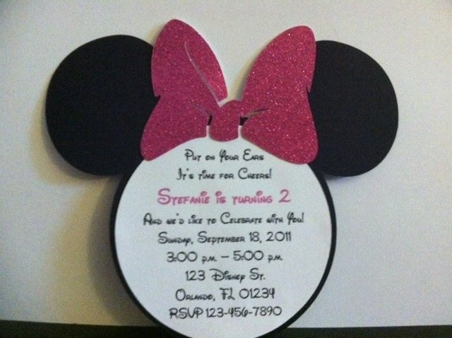 Minnie Mouse Invitation Wording Best Of Minnie Mouse Birthday Invitations with Envelopes Hot by