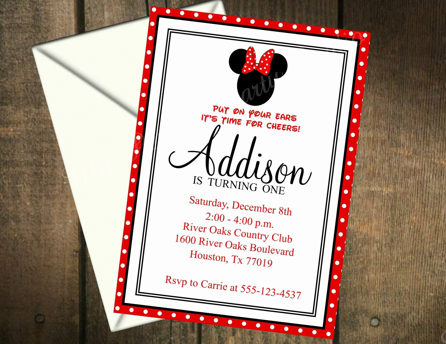 Minnie Mouse Invitation Wording New Minnie Mouse Printable Birthday Invitation by