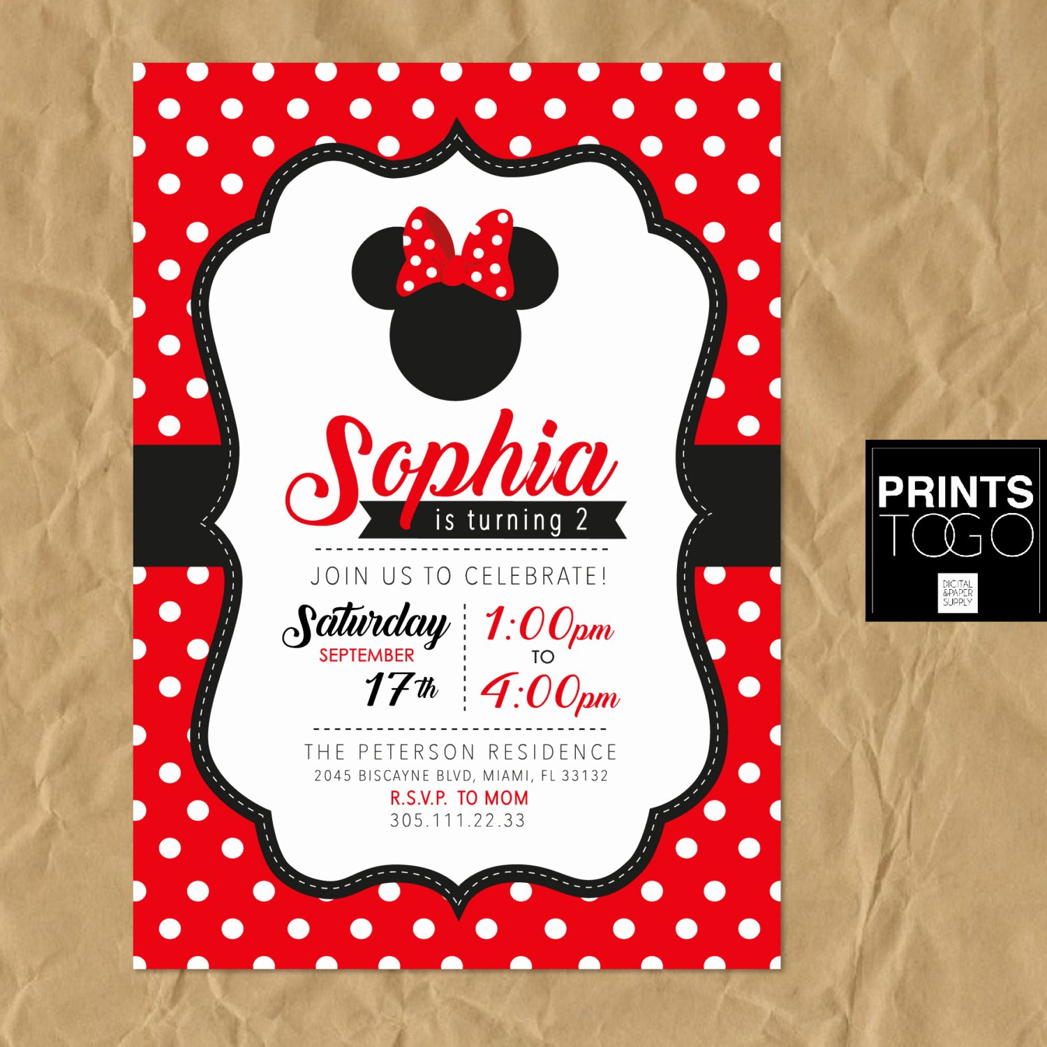 Minnie Mouse Invitations Free Best Of Minnie Mouse Printable Invitation Polka Dots Minnie Mouse