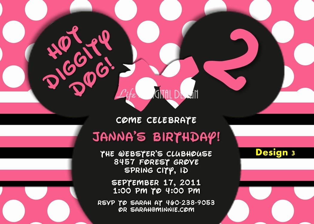 Minnie Mouse Invitations Free Lovely Minnie Mouse Invitations Minnie Mouse Ears Invitation Minnie