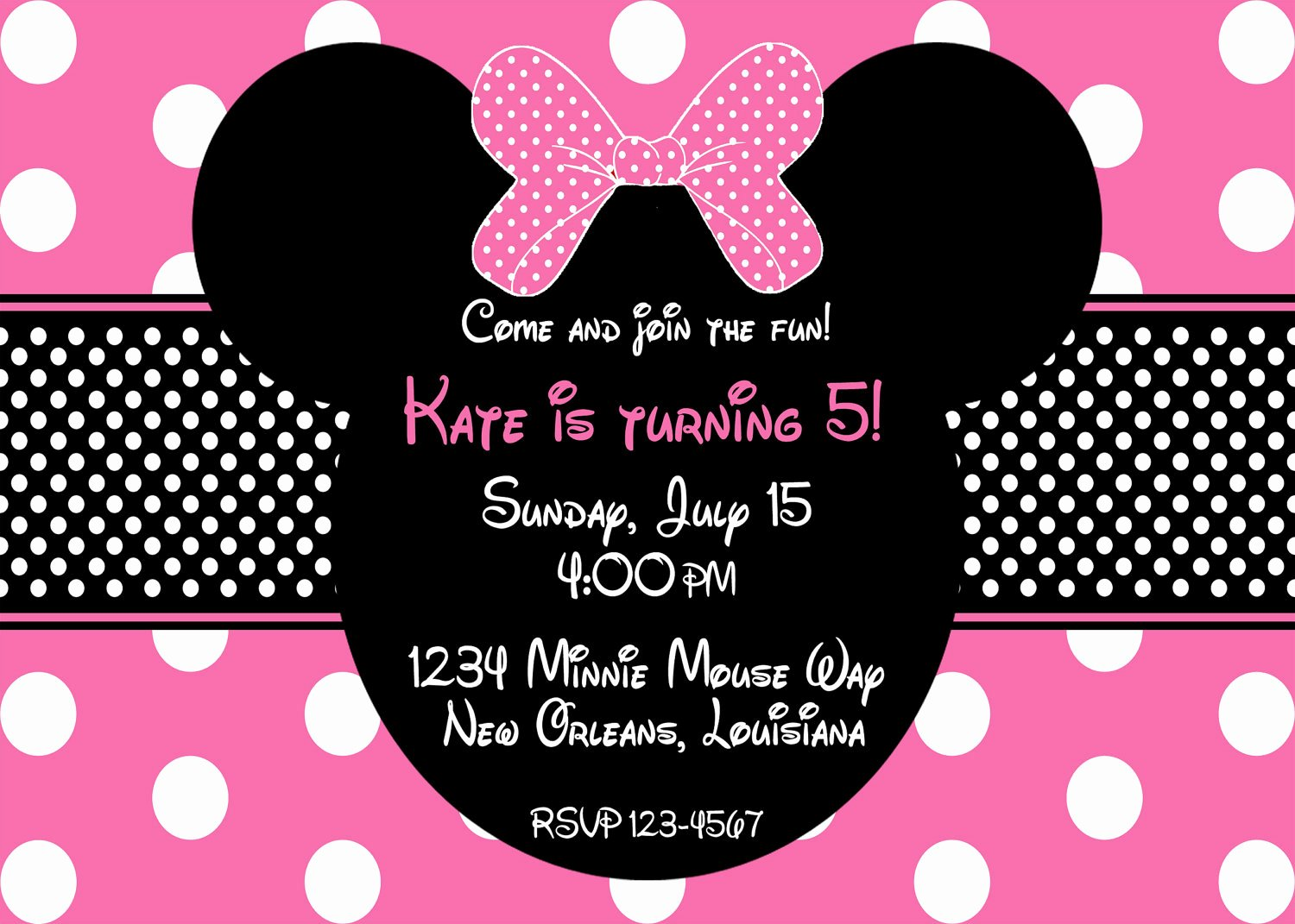Minnie Mouse Invitations Free New Free Editable Minnie Mouse Birthday Invitations