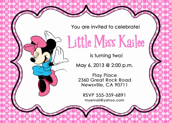 Minnie Mouse Invitations Free New Free Printable Minnie Mouse Invitation Template