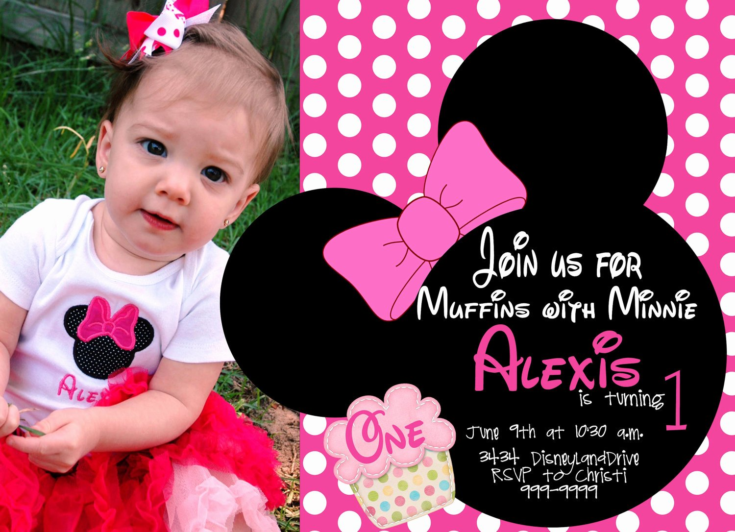 Minnie Mouse Invitations Free Unique Free Minnie Mouse First Birthday Invitations Printable