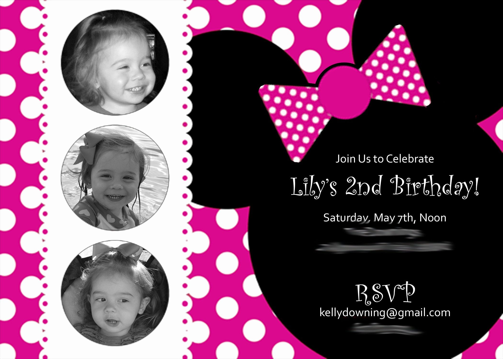 Minnie Mouse Party Invitations Beautiful A Two Year's Olds Mini Minnie Birthday Party