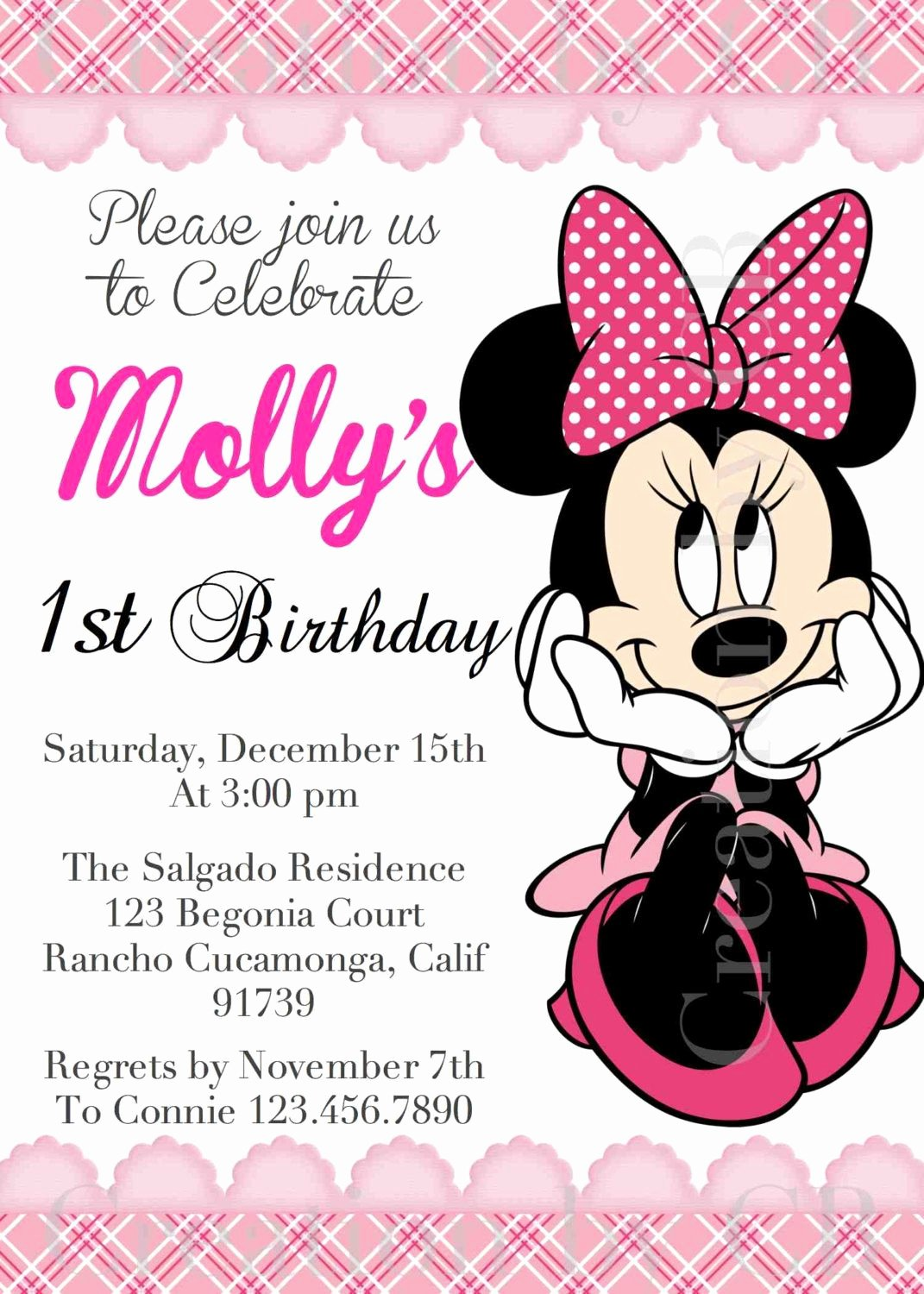 Minnie Mouse Party Invitations Best Of This Graphic Minnie Mouse Birthday Invitation Minnie