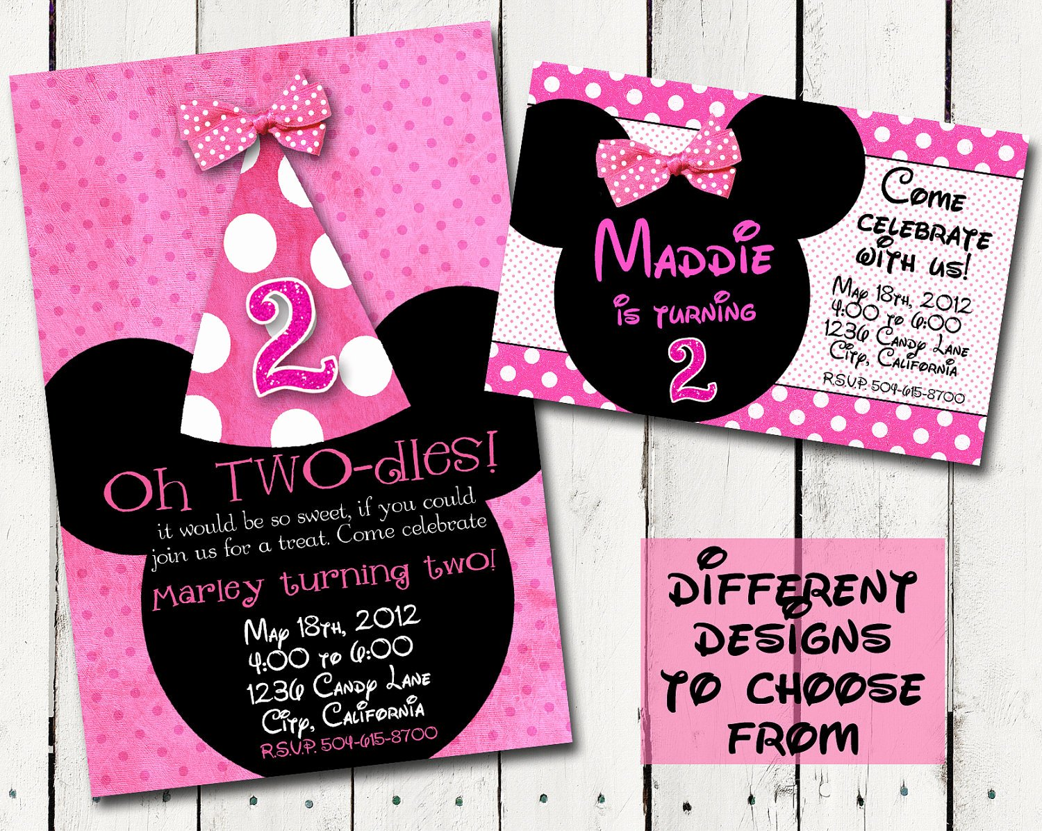 Minnie Mouse Party Invitations Elegant Chalkboard Birthday Invitation Custom by Tamiraycardsandprint