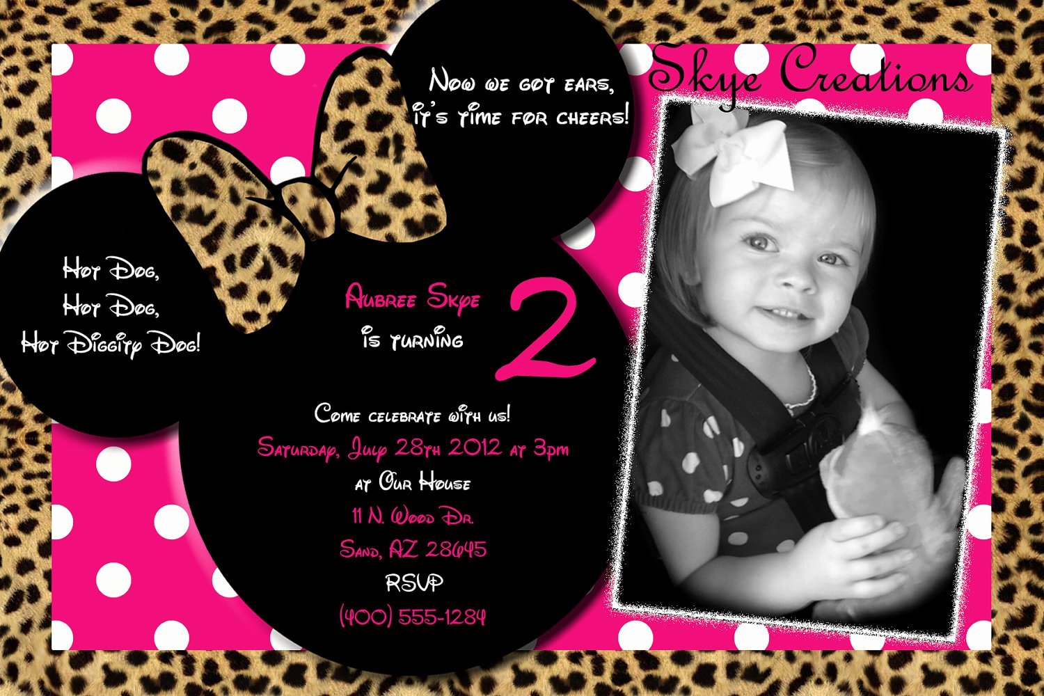 Minnie Mouse Party Invitations Elegant Personalized Minnie Mouse Birthday Invitations