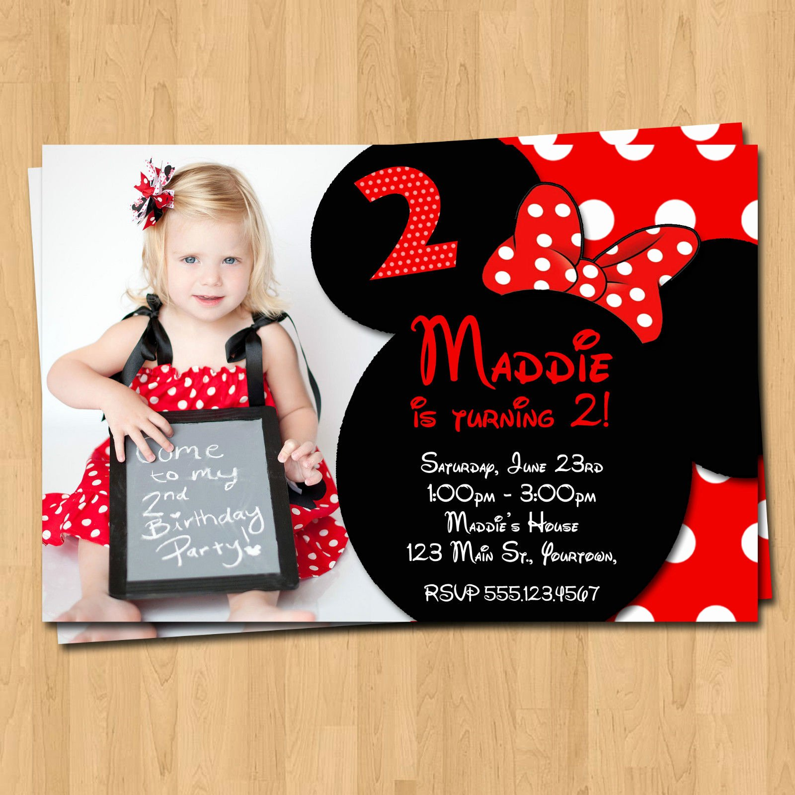 Minnie Mouse Party Invitations Lovely Free Printable Minnie Mouse Birthday Party Invitations